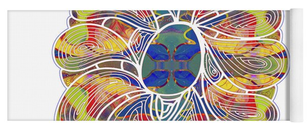 Zen Flower Abstract Meditation Digital Mixed Media Art By Omaste Witkowski Yoga Mat