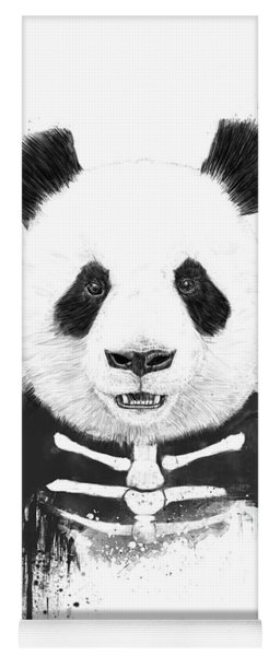 Zombie Panda Yoga Mat