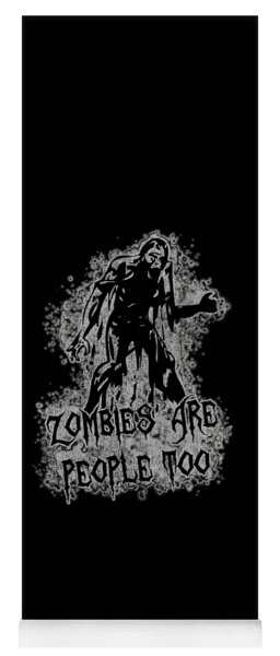 Zombies Are People Too Halloween Vintage Yoga Mat