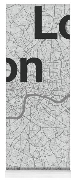 London Minimal Map Yoga Mat For Sale By Florent Bodart