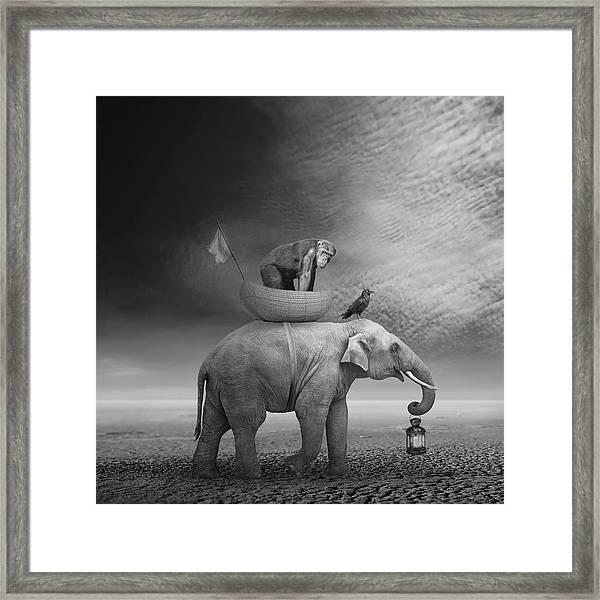 ... .. Framed Print