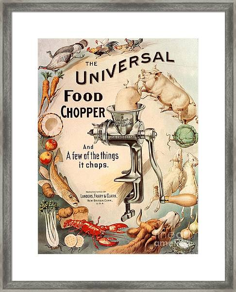 1899 1890s Usa Food Choppers Mincers Framed Print