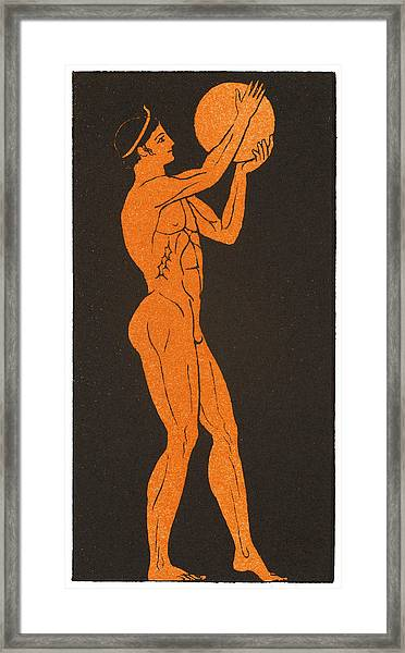 A Greek Discus Thrower Framed Print by Mary Evans Picture Library