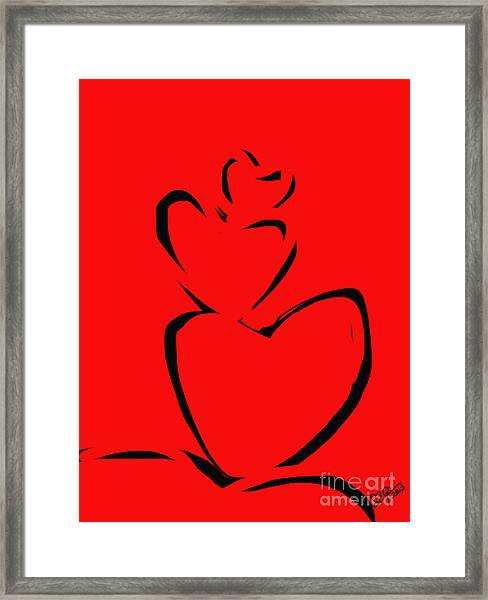 A Stack Of Hearts Framed Print