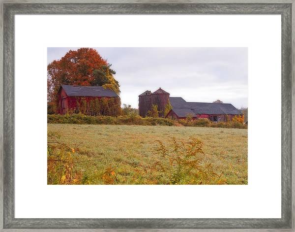 Abandoned Connecticut Farm  Framed Print