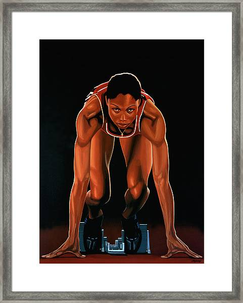 Allyson Felix Painting  Framed Print