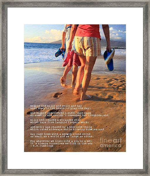 Always Ourselves We Find In The Sea Framed Print