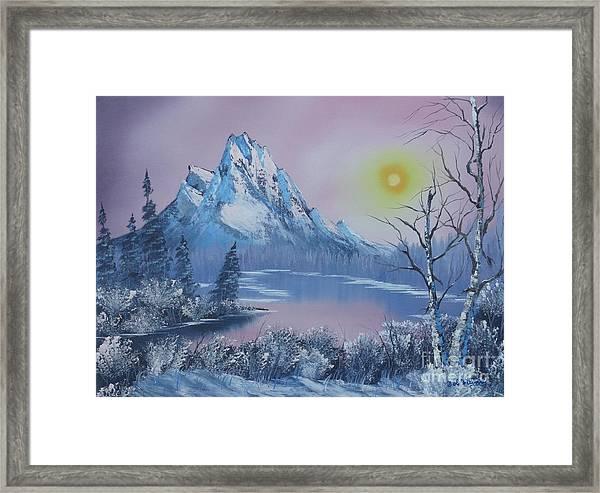 Blue Winter's Sunglow  Framed Print