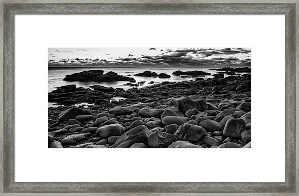 Boulders At Sunrise Marginal Way Framed Print