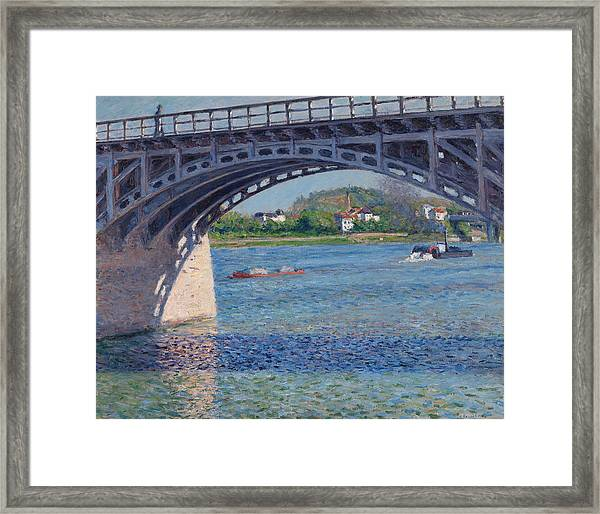 Bridge At Argenteuil And The Seine Framed Print