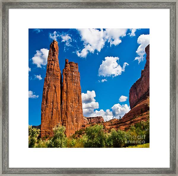 Canyon De Chelly Spider Rock Framed Print