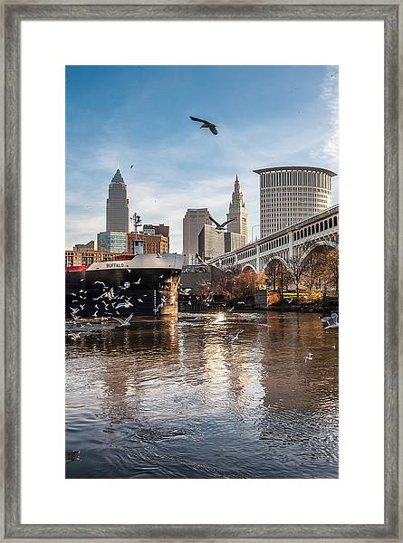 Chasing A Freighter 6 Framed Print