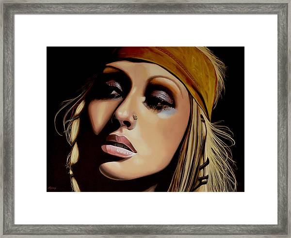 Christina Aguilera Painting Framed Print