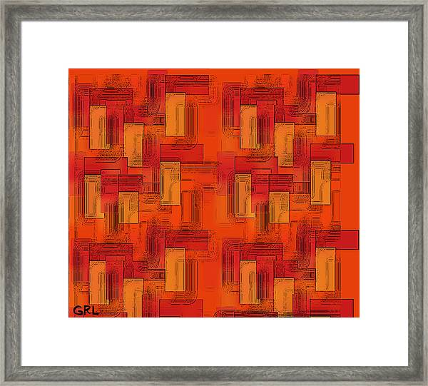 Framed Print featuring the painting  Color Of Red V Contemporary Digital Art by G Linsenmayer