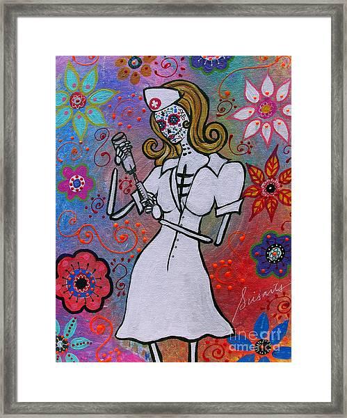 Dia De Los Muertos Nurse Framed Print