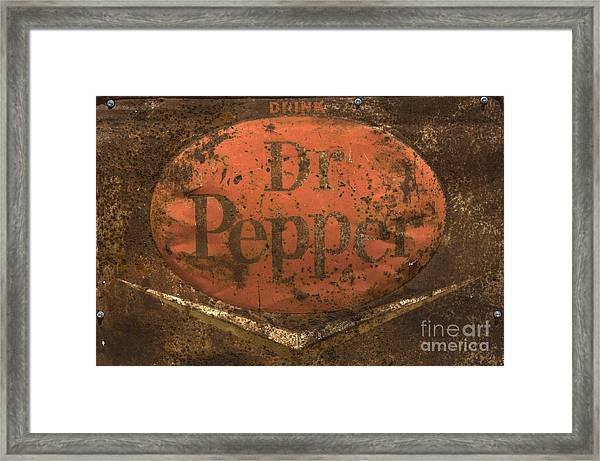 Dr Pepper Vintage Sign Framed Print