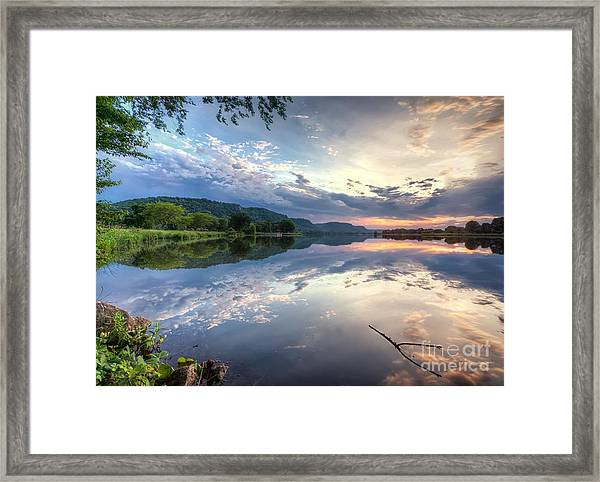 Framed Print featuring the photograph  East Lake Sunset by Kari Yearous