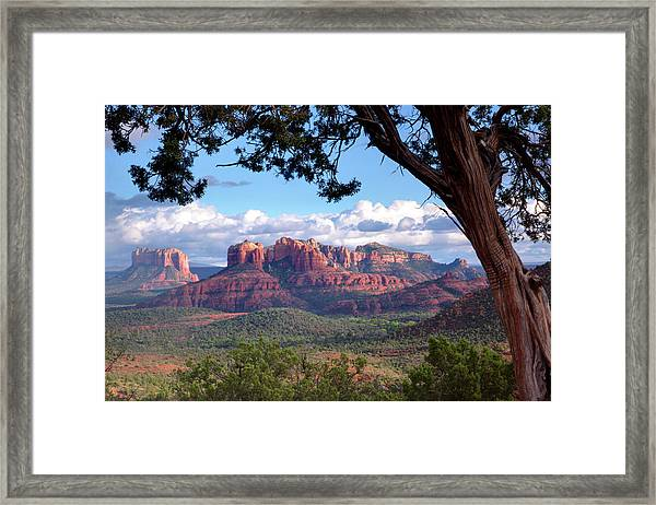 Evening Sky Red Rocks Framed Print