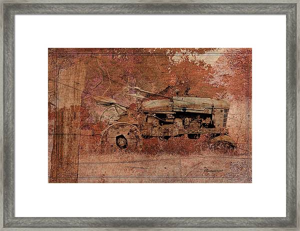 Grandpa's Old Tractor Framed Print
