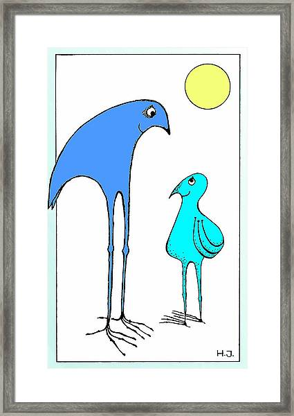 Happy Father  And  Son Framed Print