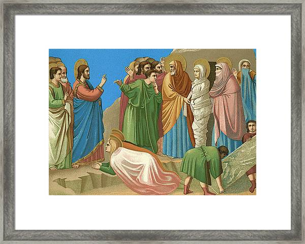 He Restores Lazarus To Life Framed Print