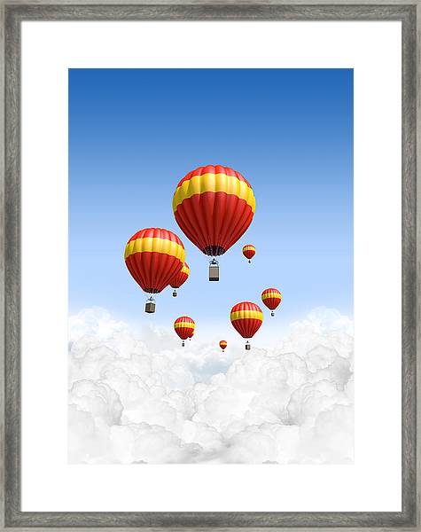 Joy Above The Clouds Framed Print