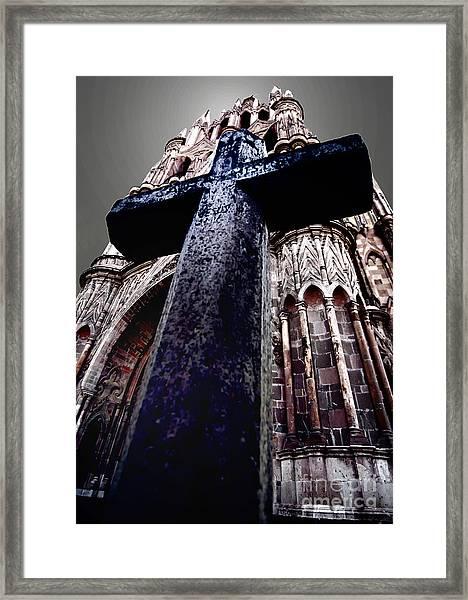 La Parroquia Cross Framed Print