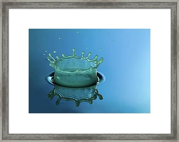 Liquid Crown Framed Print