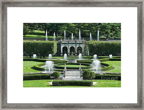 Longwood Gardens Fountains Framed Print