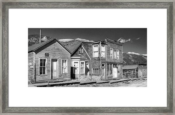 Main Street St Elmo Colorado Framed Print