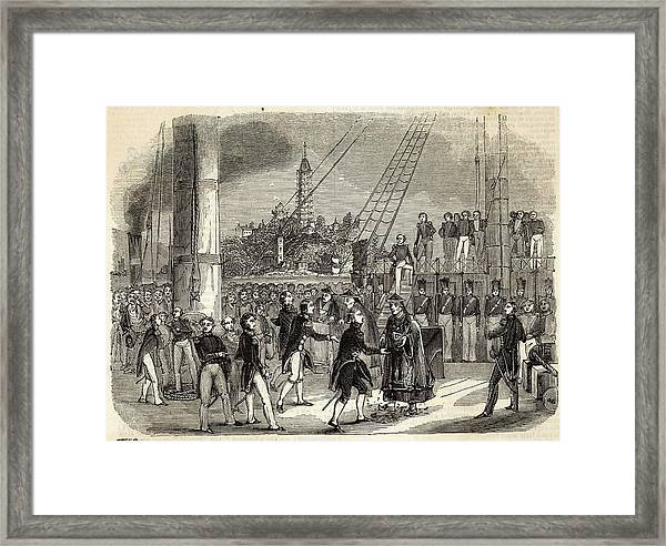 Meeting Between British And  Chinese Framed Print by  Illustrated London News Ltd/Mar