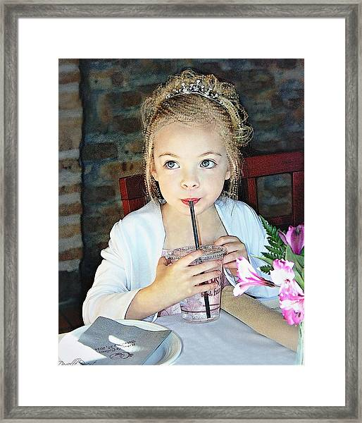 Mommy And Daddy's Little Princess Framed Print