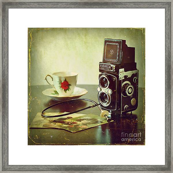 My Morning Tea Framed Print