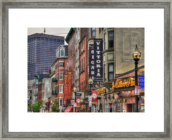 North End Charm - Boston Framed Print