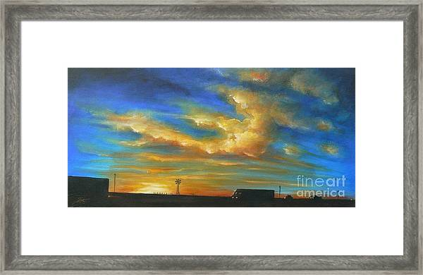 On Route 66 To Amarillo Framed Print