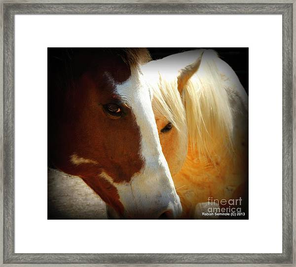 Portrait Of Tai And Woody Framed Print