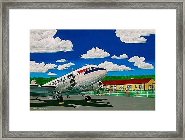 Portsmouth Ohio Airport And Lake Central Airlines Framed Print