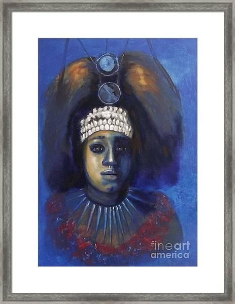 Princess From Hawaii Framed Print by Donna Chaasadah