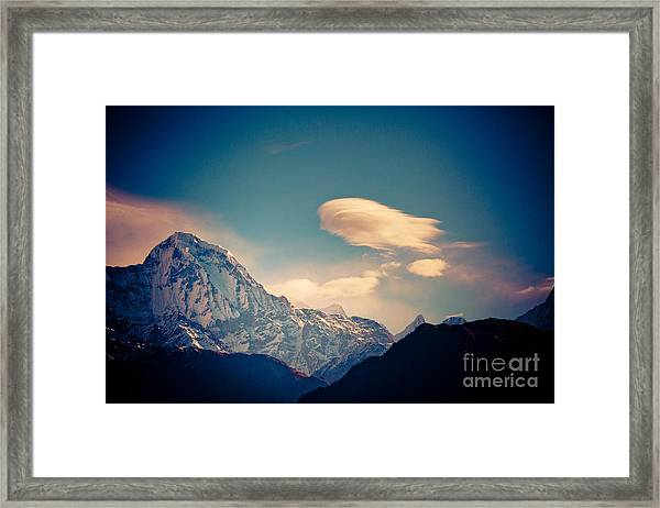 Framed Print featuring the photograph Derizhabl In Himalayas Artmif.lv by Raimond Klavins