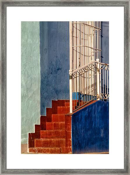 Red Steps Framed Print