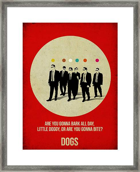 Reservoir Dogs Poster Framed Print