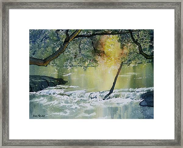 River Esk In Full Flow Framed Print