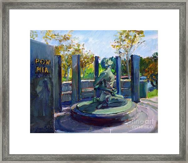 Riverside National Cemetery Pow Mia Memorial Framed Print