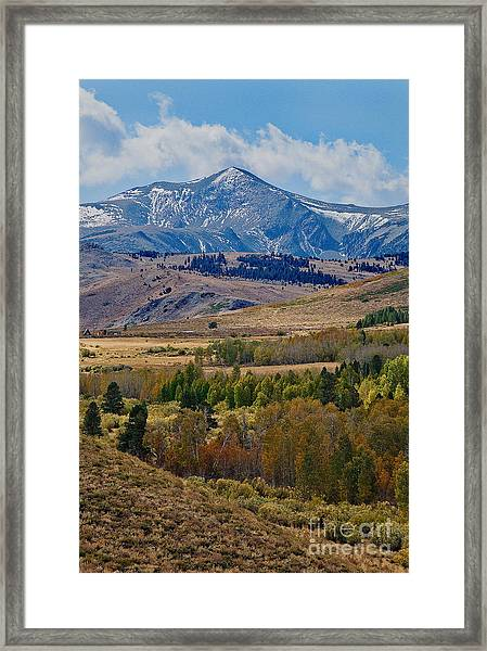 Framed Print featuring the photograph  Sierras Mountains by Mae Wertz