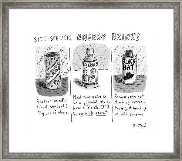 Site-specific Energy Drinks A Series Of Energy Framed Print