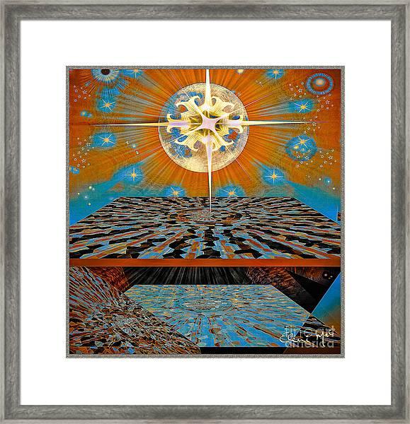 Framed Print featuring the digital art  Solar Energy by Eleni Mac Synodinos