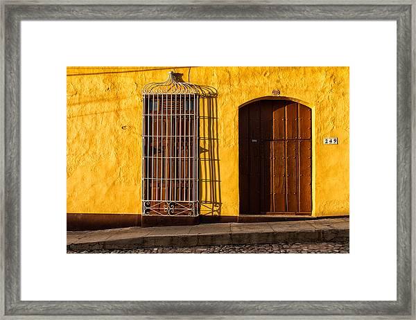 Sunny Yellow Wall Framed Print