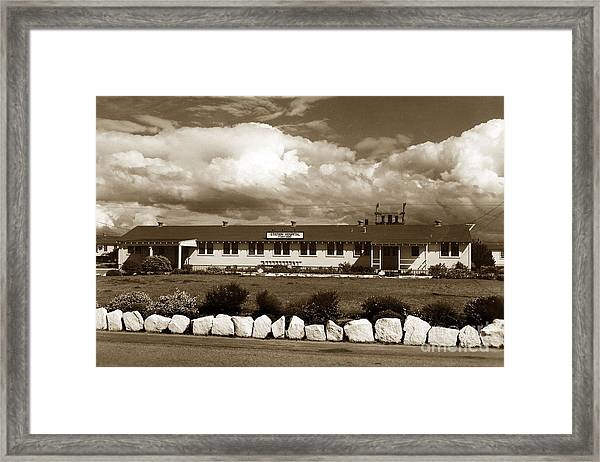 The Fort Ord Station Hospital Administration Building T-3010 Building Fort Ord Army Base Circa 1950 Framed Print