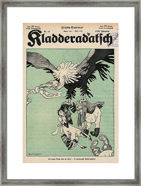 The German Eagle Brings  The Allies Framed Print