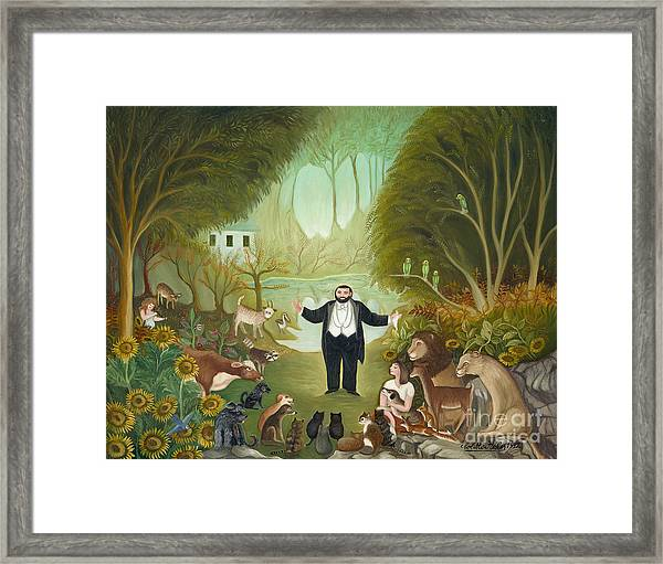 The Singer In The Forest.  Framed Print